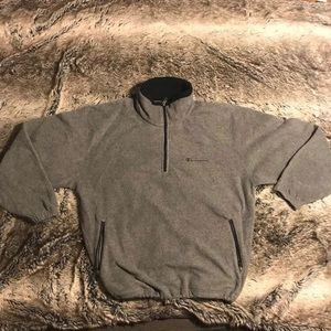 Champion Grey Zip Sweater Sweatshirt Men Large
